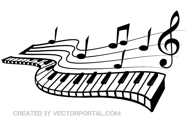 Free Music Background Clipart Download Free Clip Art: Vector Keyboard And Music Notes