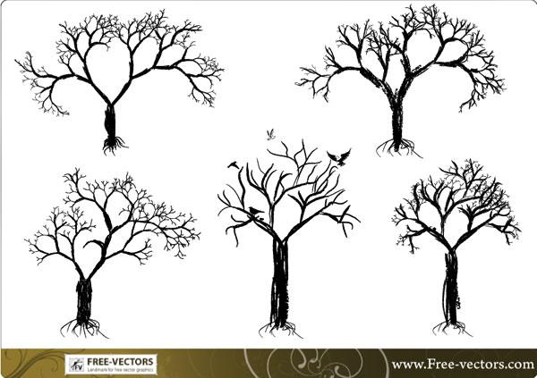 tree vector set download free vector art freevectors