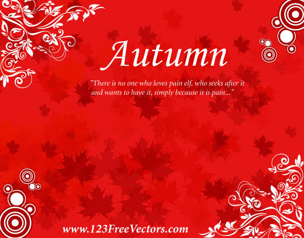 Free Autumn Background Vector