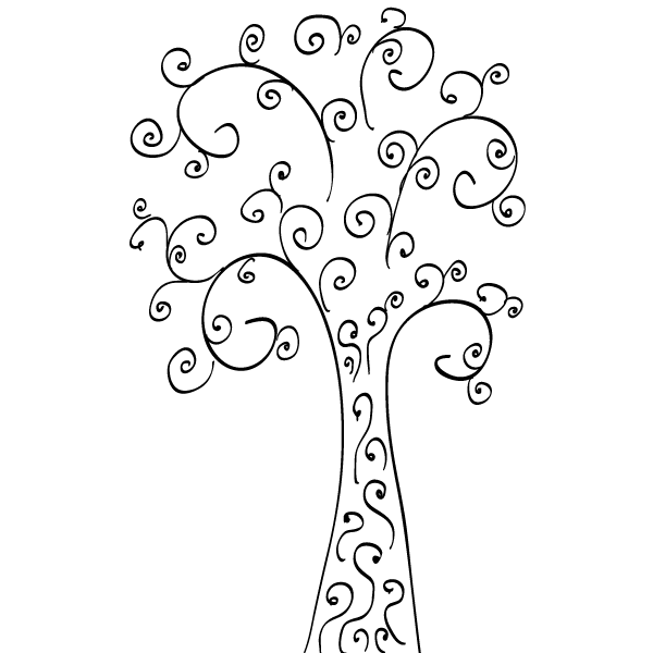 Vector Clip Art Curly Tree Download Free Vector Art
