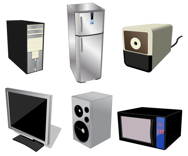 Home Electrical Appliances Free Vector Download Free