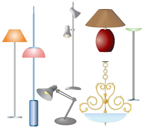 Electric Lamps Free Vector