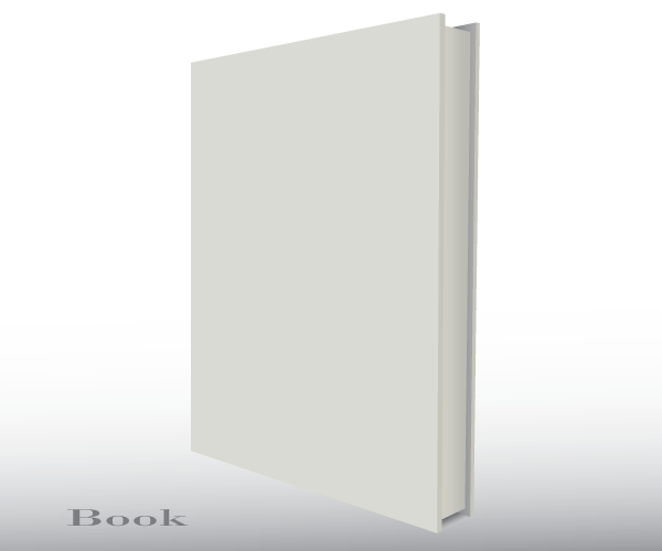 free vector blank empty 3d book cover template download