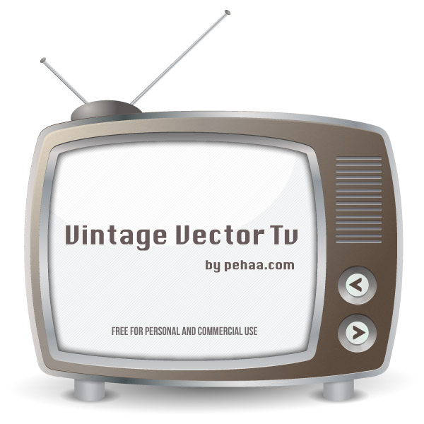 Vintage TV Vector Art