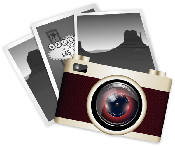 Vector Clip Art Vintage Camera