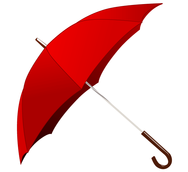 Vector Clip Art Red Umbrella