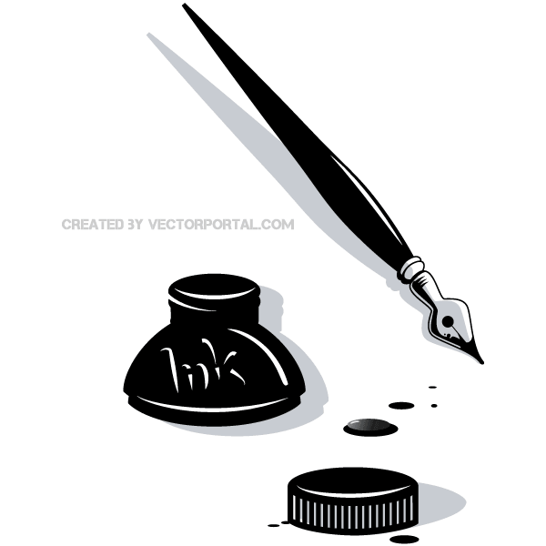 Ink and pen clipart