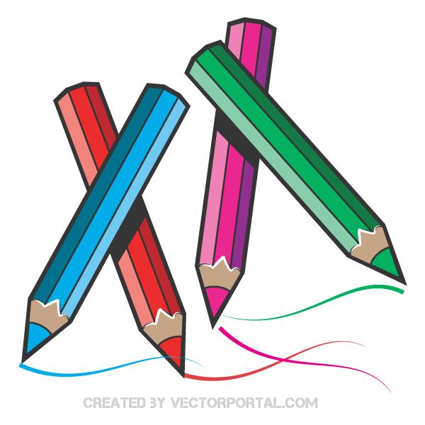 Vector Color Pencils Download Free Vector Art Free Vectors