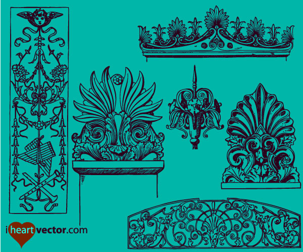 Free Vector Ornaments Pack