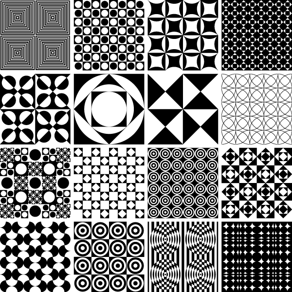 Vector Monochrome Geometric Seamless Pattern Design | Download Free