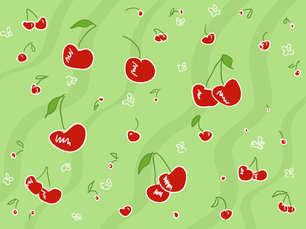 Vector Cherry Pattern