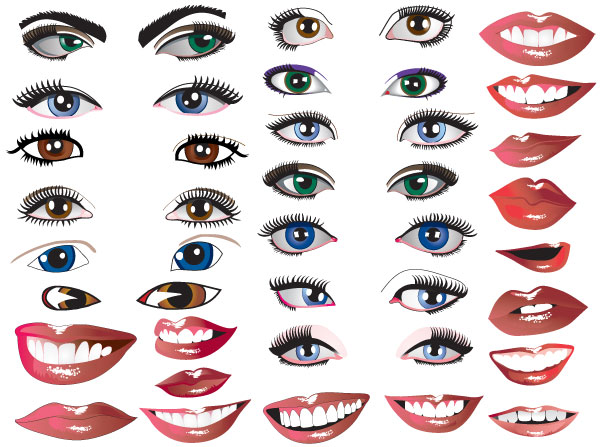 Eyes &Amp; Mouths Vector