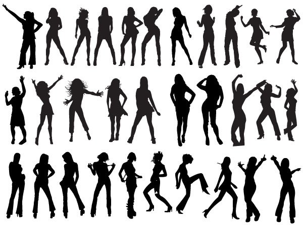 vector dancers silhouettes download free vector art free vectors rh free vectors com dancer silhouette man vector free vector dance silhouette