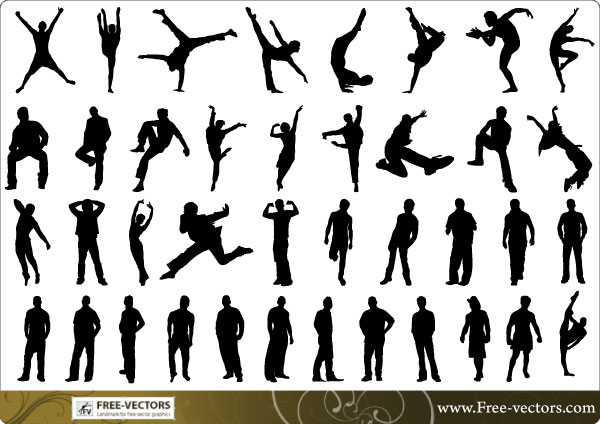 Free Man Silhouettes Vector