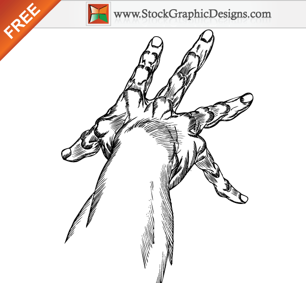 Hand Drawn Hands Free Vector Art