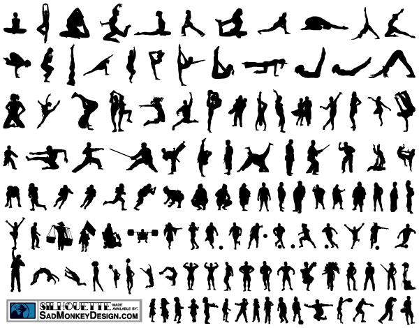 100+ People Silhouettes Free Vectors