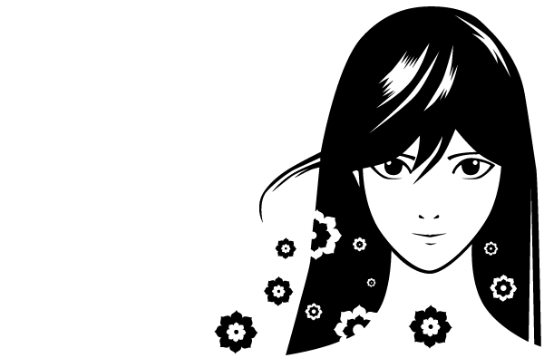 Manga Girl Vector Free