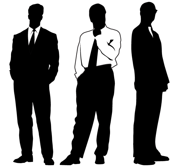 Vector Businessman Silhouettes