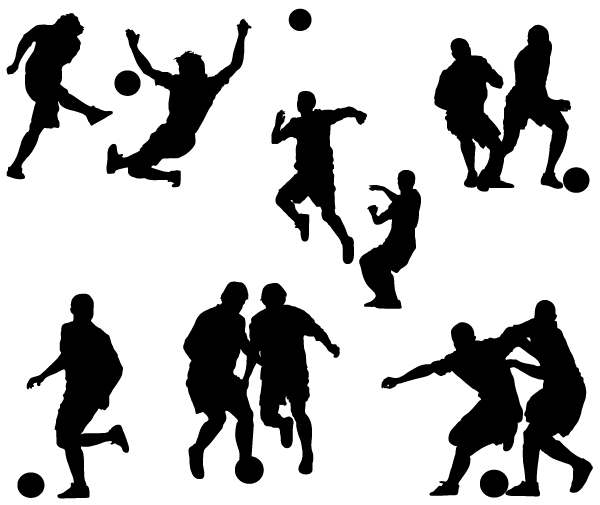 vector football player silhouettes image