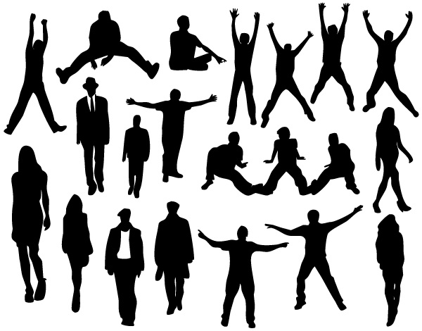 People Silhouettes Images Download Free Vector Art