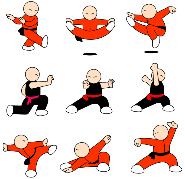 Kung Fu Character Vector Illustrator Pack