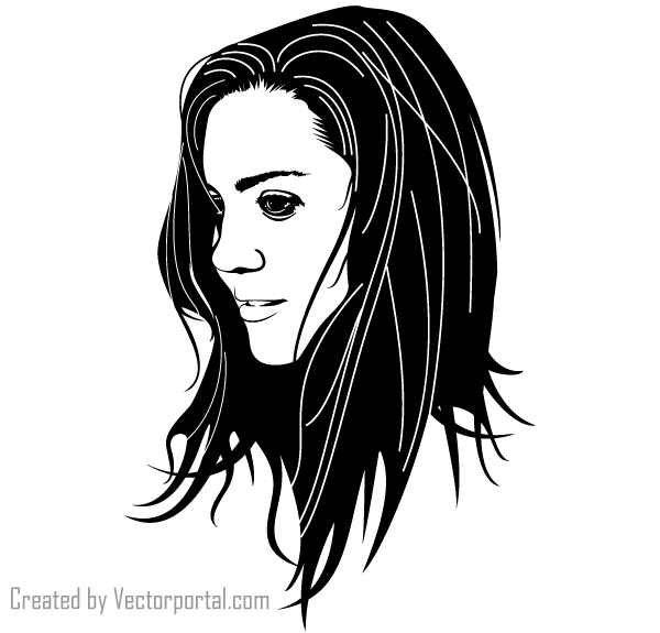 Beautiful Girls Face Vector Download Free Vector Art