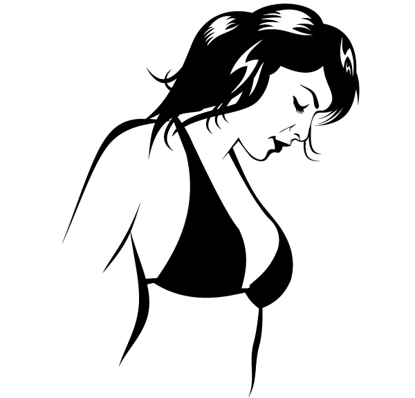 Beautiful Bikini Girl Vector Image Download Free Vector