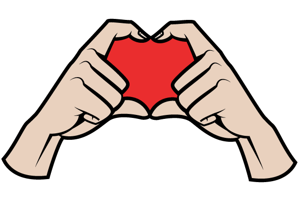 Hands Making a Heart Shape Vector