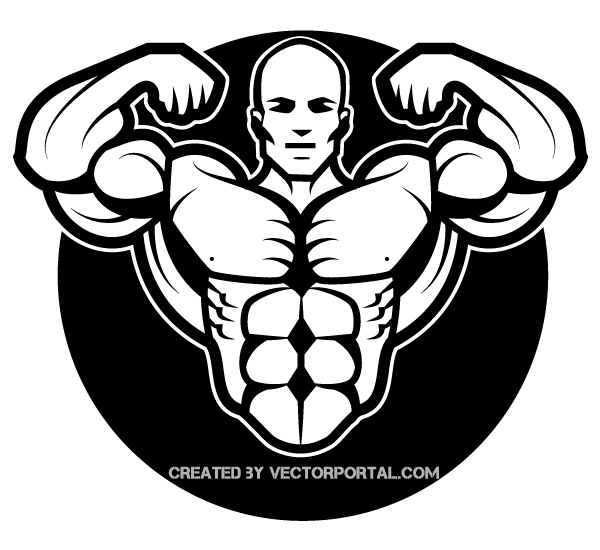 Bodybuilder Vector Art