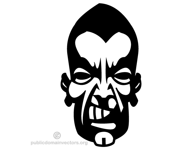 Angry Man Face Vector