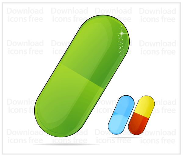 Free Vector Green Medic Pill