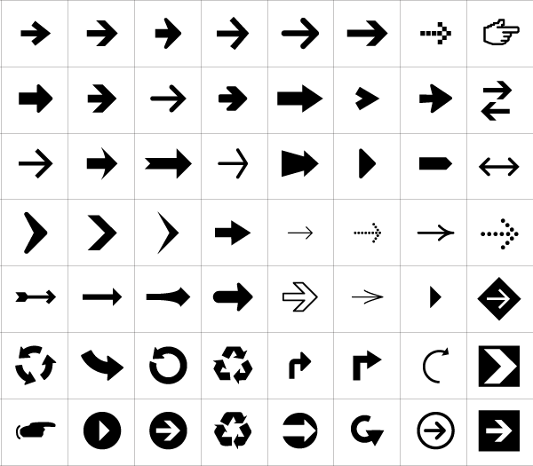 56 Arrow Symbols & Icons Vector Free