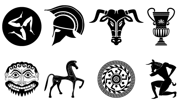 Old Ancient Greek Designs Vector Pack Download Free Vector Art