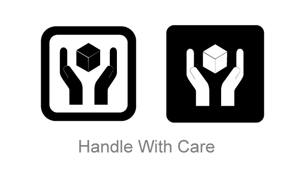 Vector Handle with Care Symbol