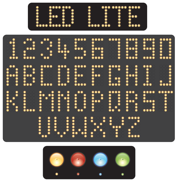 Vector Led Alphabet and Numbers