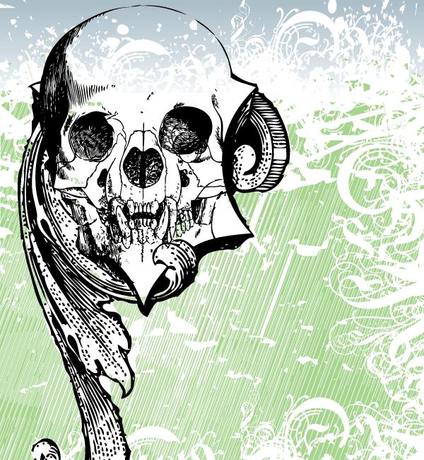 money skull vector art download free vector art free vectors