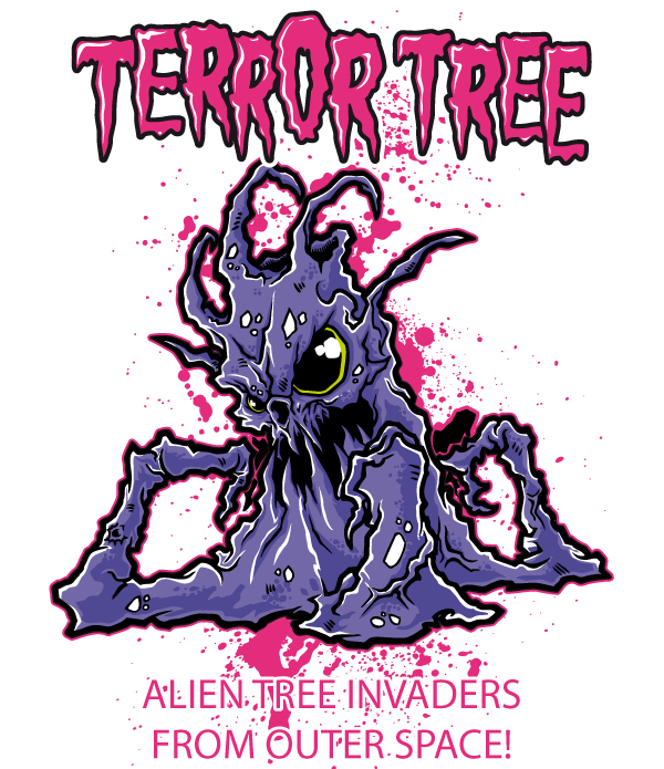 Free T-shirt Design – Terror Tree