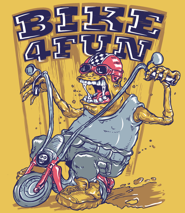 Vector Monster Biker