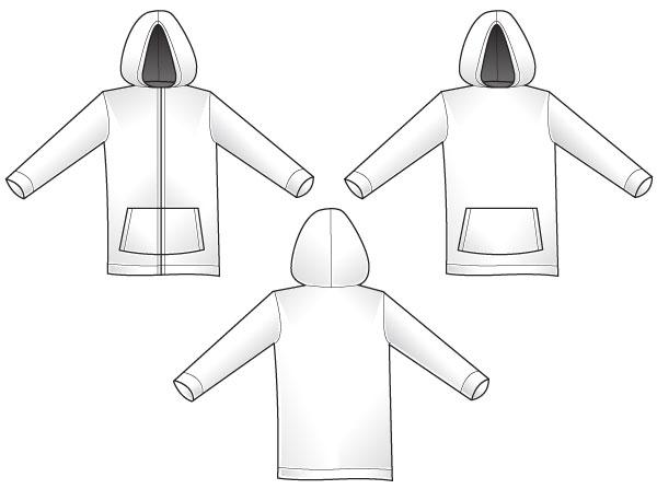 Hoodie template download free vector art free vectors hoodie template pronofoot35fo Choice Image