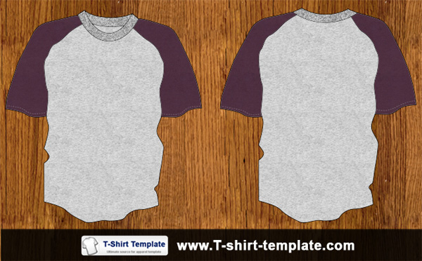 Youth Raglan Tshirt Template