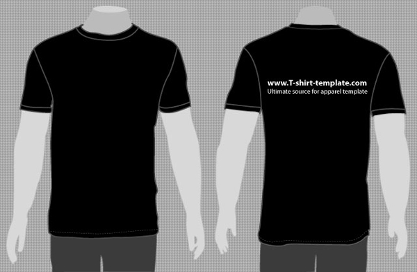 Vector Model Tshirt Template Front Back