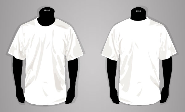 Vector T-shirt Template Front and Back