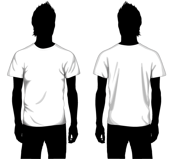 Vector Boys T-shirt Template Front and Back | Download Free Vector ...