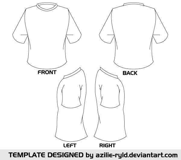 Vector blank tshirt template front and back download for Blank t shirt design template