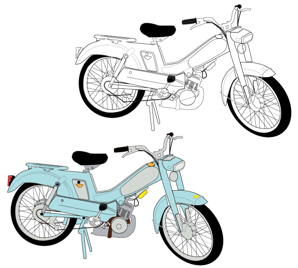 Moped Vector Free