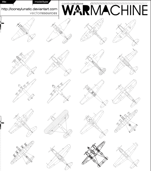 War Machine Vector Illustrator Pack 01