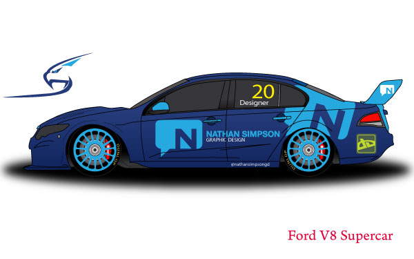Ford V8 Supercar Vector Template
