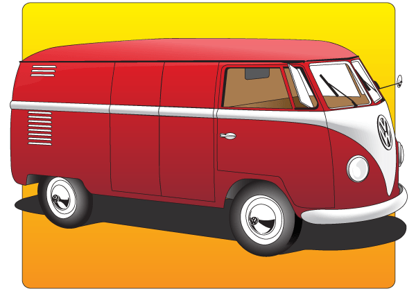 Volkswagen Type 2 Vector Graphics