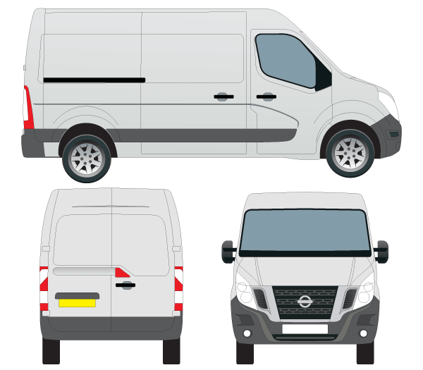 Vector Nissan NV400 Van Outline