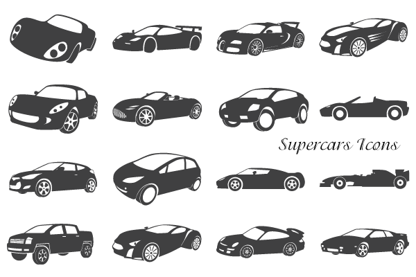 Vector Supercars Icons